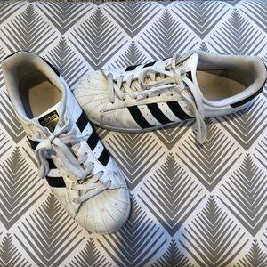 Adidas Superstars Black and White
